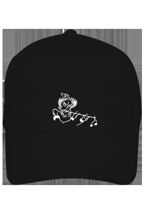 Black Cap - Krishna Playign Flute Cotton
