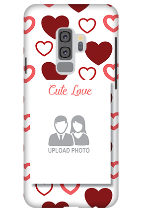3D-Samsung Galaxy S9 Plus Cute Love Mobile Cover