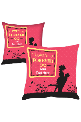 Love Couple Printed Cushion Cover