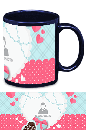 Awesome Valentine's Day Blue Patch Mug