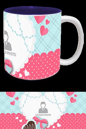 Awesome Valentine's Day Inside Blue Mug