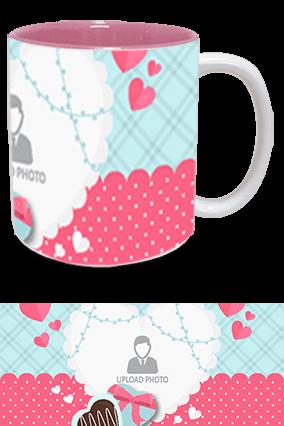 Awesome Valentine's Day Inside Pink Mug