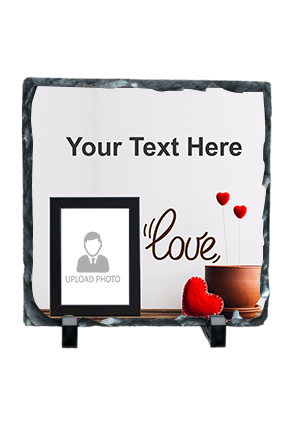 Ardent Love Personalized Valentine Square Photo Rock