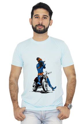 Swagger on Bullet Round Neck Sky Blue Dri Fit T-shirt