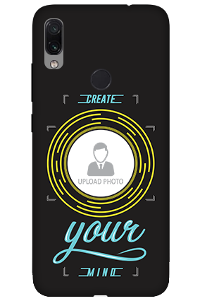 3D-Xiaomi Redmi Note 7 Create Your Mind Personalized Mobile Cover