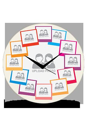 Mutiple Photos Wall Clock
