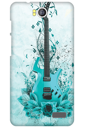 Silicon - Intex Aqua 4.5e Blue Guitar Mobile Cover