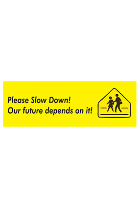 Customize Slow Down Bumper Sticker