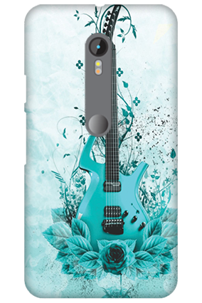 3D Motorola Moto G3 Blue Guitar Mobile Cover
