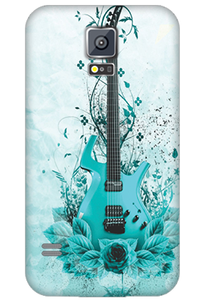 Personalized Samsung Galaxy S5 Blue Guitar Mobile Cover