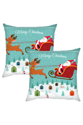 Christmas Ride  Cushion Cover