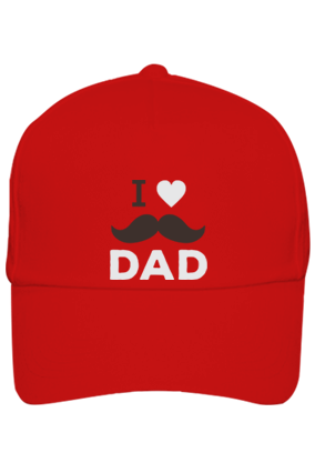 Customized Red Cap - I Love Dad
