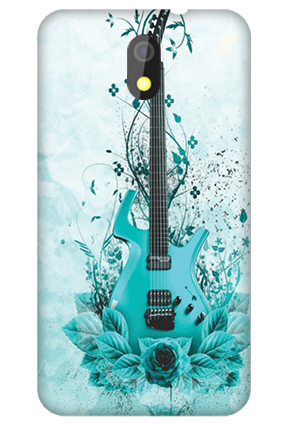 Silicon-Htc Desire 326g Blue Guitar Mobile Cover