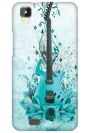 Transparent Silicon - Blue Guitar Intex Aqua Speed Mobile Cover