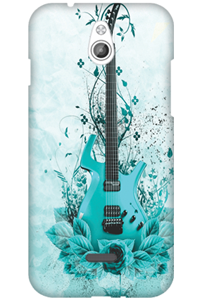 Transparent Silicon - Blue Guitar InFocus M2 Mobile Cover
