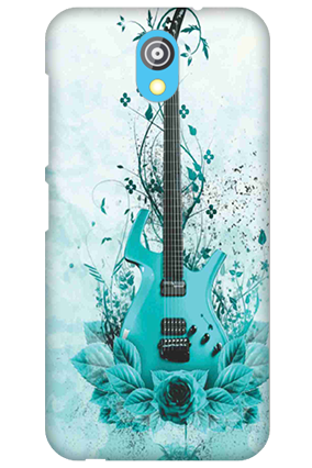 Silicon - HTC Desire 526G Plus Blue Guitar Mobile Cover
