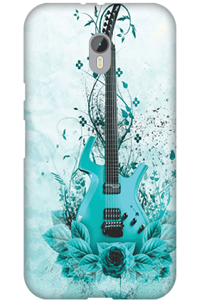 Silicon - Moto G Turbo Blue Guitar Mobile Cover