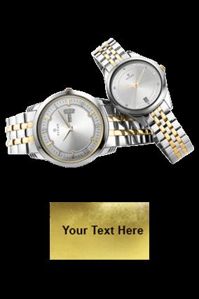 Titan Bimetal Gold Day Date Function Wrist Watch