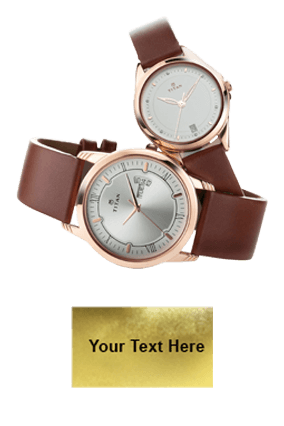 Titan Full Rosegold Day Date Function Wrist Watch