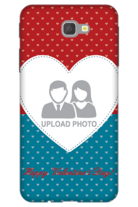 3D - Samsung Galaxy J7 Prime Colorful Heart Valentine's Day Mobile Cover