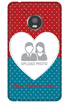 3D - Moto G5 Plus Colorful Heart Valentine's Day Mobile Cover