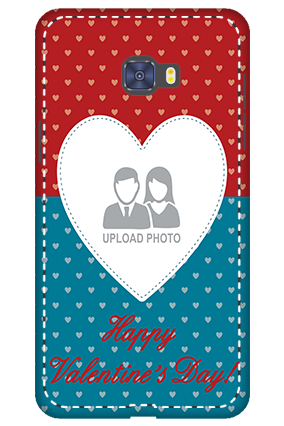 3D -  Samsung Galaxy C7 Pro Colorful Heart Valentine's Day Mobile Cover