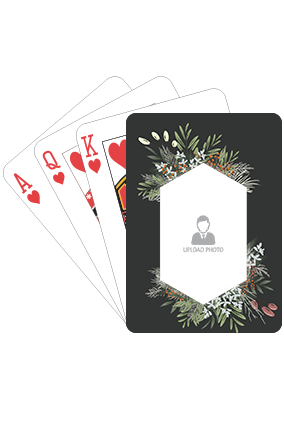 Flower and Leaves Playing Cards