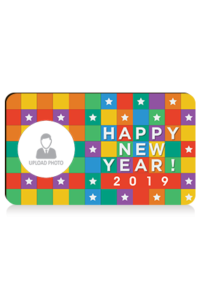 Personalize Colorful Square Photo Magnet