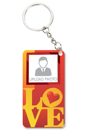Ardent Love Personalized Valentine Small Rectangle Key Chain