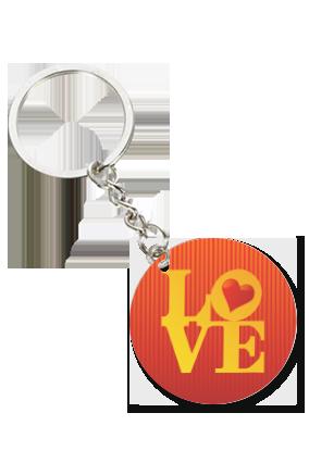 Ardent Love Personalized Valentine Round Key Chain