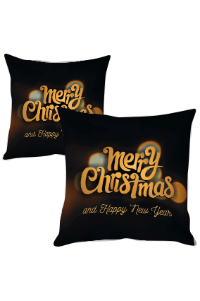 Dreamy Night Merry Christmas and New Year Cushion Cover