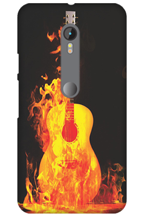 3D Motorola Moto G3 Fired Guitar Mobile Cover