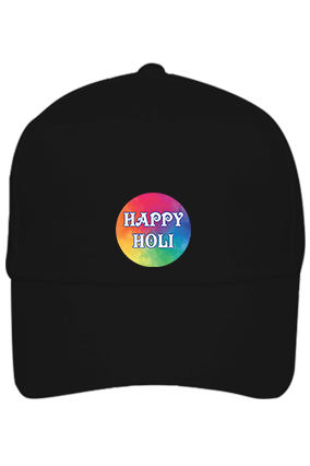 Colorful Abstract Personalized Holi Cotton Black Cap