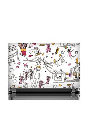 Celebrations White Laptop Skin