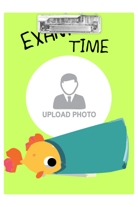Customized Cute Fish Exam Board
