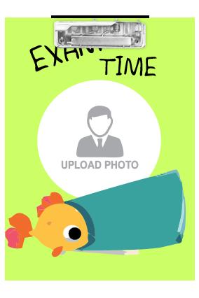Customized Cute Fish Exam Board