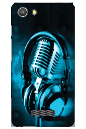 Transparent Silicon - Headphones Micromax Unite 3 Q372 Mobile Cover