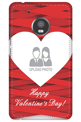 3D -  Moto G5 Big Heart Valentine's Day Mobile Cover