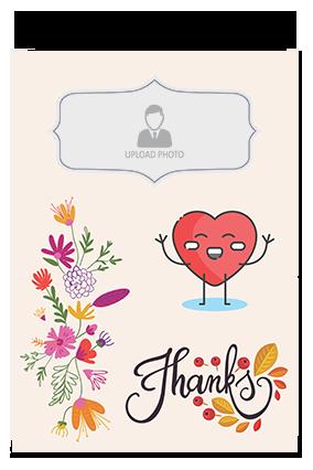 Printed Thanks Hard Paper Greeting Card