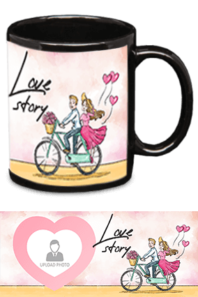Love Story Black Patch Mug