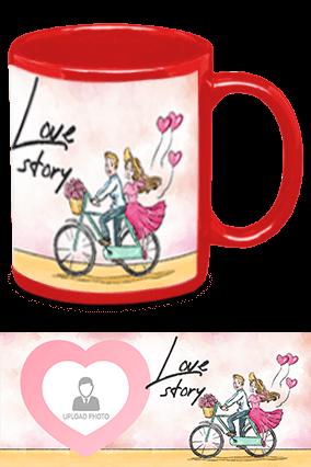 Love Story Red Patch Mug