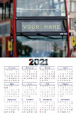 Designer LED Poster Name In Image Calendar (12x18 Inches)