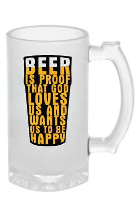 Proof Of Glass Frosted Beer Mug