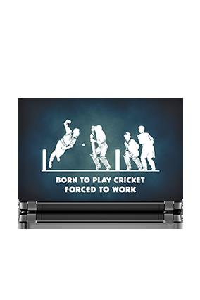 Cricketer Inside Design Laptop Skin