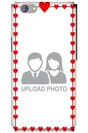 Silicon - OPPO F1s Heart Valentine's Day Mobile Cover