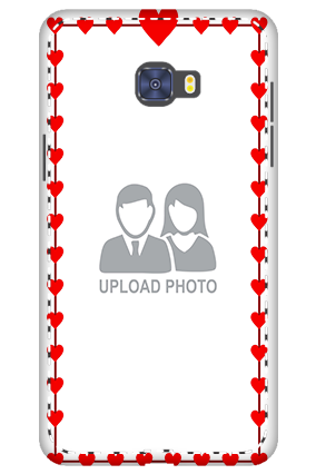 Custom 3D-Samsung Galaxy C7 Pro Heart Valentine's Day Mobile Cover