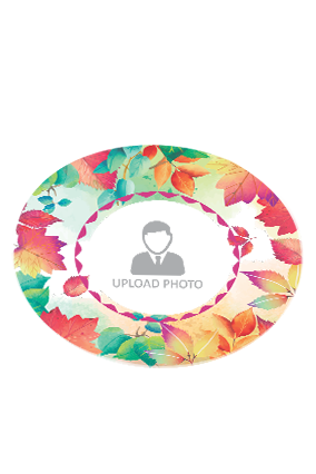 Colorful Leaves Round Printed Coaster