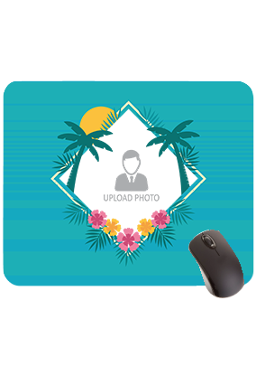 Palm Trees and Sun Rectangular Mouse Pad