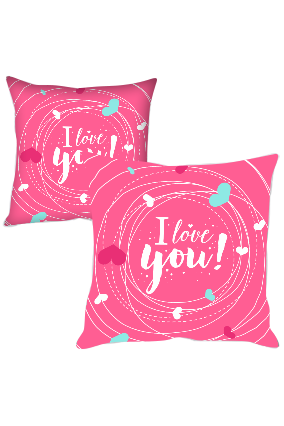 Hearts in Round Designer Cushion Cover