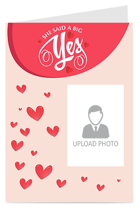 A Big Yes Personalized Valentine Greeting Card